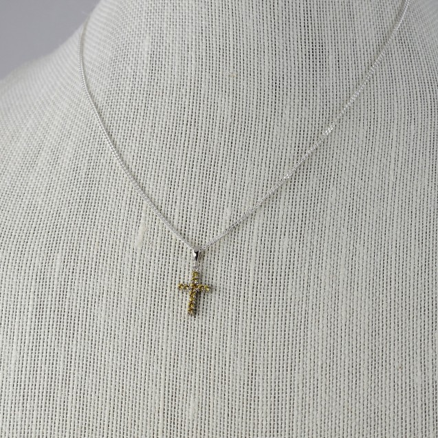 Sapphire Yellow Cross Pendant